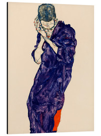 Alu-Dibond  Youth with violet frock - Egon Schiele