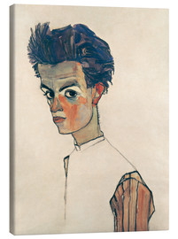 Canvas  Egon Schiele, Self-portrait - Egon Schiele
