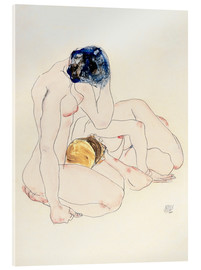 Acrylic print  Two friends - Egon Schiele