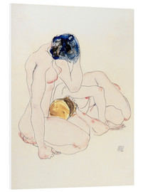 Foam board print  Two friends - Egon Schiele