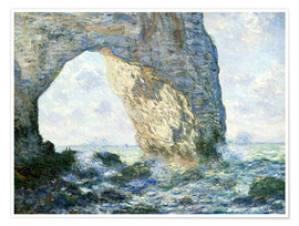 Premium poster  the manneport rock arch west of etretat - Claude Monet