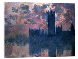 Acrylic print  Houses of Parliament, Sunset - Claude Monet
