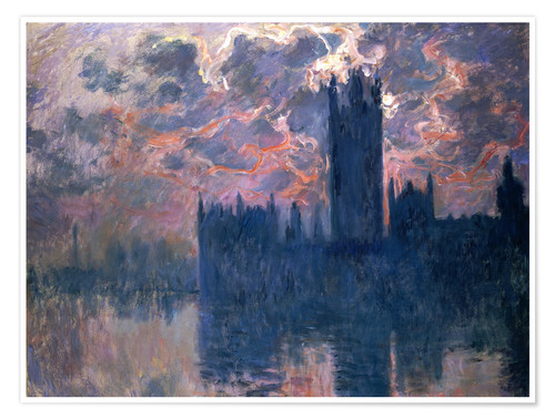 Poster Houses of Parliament, Sunset