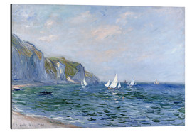 Alu-Dibond  Rocks and sailing boats in Pourville - Claude Monet