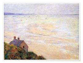 Claude Monet - The Hut in Trouville at Low Tide