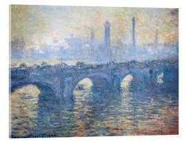Acrylic print  River Thames in London, Waterloo Bridge - Claude Monet