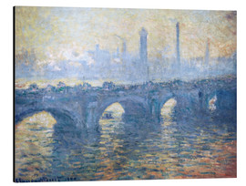 Aluminium print  River Thames in London, Waterloo Bridge - Claude Monet