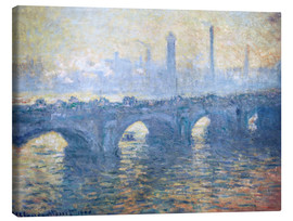 Canvas  River Thames in London, Waterloo Bridge - Claude Monet