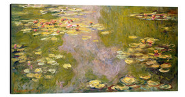 Aluminium print  The lily pond - Claude Monet