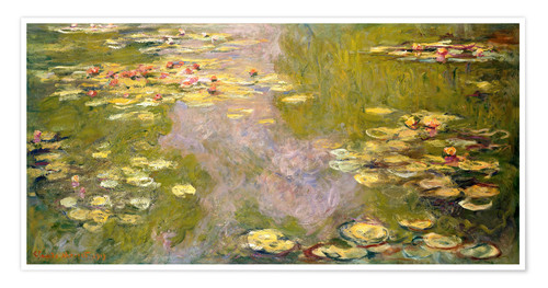 Premium poster The lily pond