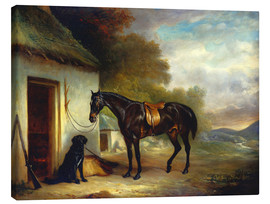 Canvas print  Mr. Stuart's favorite horse and his retriever Nell, 1867 - John E. Ferneley