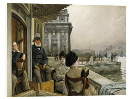 Foam board print  Trafalgar Tavern, Greenwich - James  Tissot