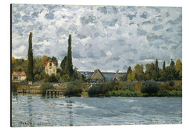 Aluminium print  The Seine at Bougival - Alfred Sisley