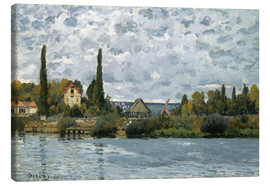 Canvas print  The Seine at Bougival - Alfred Sisley