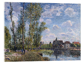 Acrylic print  The Loing in Moret in May - Alfred Sisley