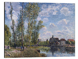 Aluminium print  The Loing in Moret in May - Alfred Sisley