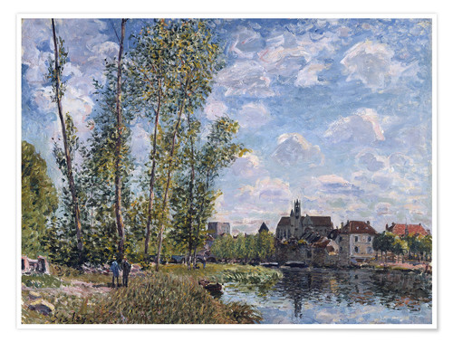 Premium poster The Loing in Moret in May