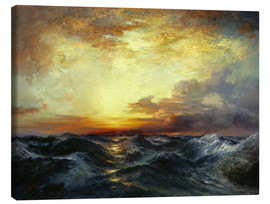 Canvas print  Sunset over the Pacific, 1907 - Thomas Moran