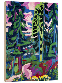 Wood print  Wildboden, mountain forest - Ernst Ludwig Kirchner
