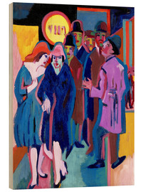 Wood print  Night-time Street Scene - Ernst Ludwig Kirchner