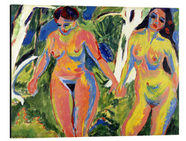 Aluminium print  Two naked women in the forest - Ernst Ludwig Kirchner