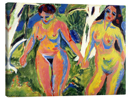 Canvas print  Two naked women in the forest - Ernst Ludwig Kirchner