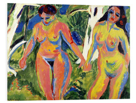 Foam board print  Two naked women in the forest - Ernst Ludwig Kirchner
