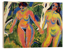 Wood print  Two naked women in the forest - Ernst Ludwig Kirchner