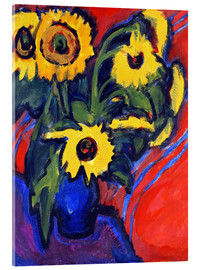 Acrylic print  Sunflowers - Ernst Ludwig Kirchner