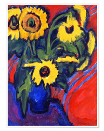Poster Sunflowers