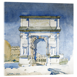 Acrylic print  Arch of the Titus in Rome - Charles Rennie Mackintosh
