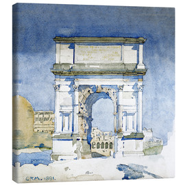 Canvas print  Arch of the Titus in Rome - Charles Rennie Mackintosh