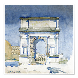 Premium poster  Arch of the Titus in Rome - Charles Rennie Mackintosh