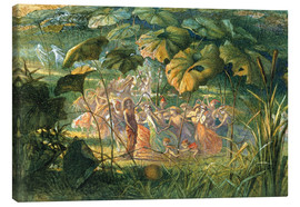 Canvas print  Fairy Dance in a Clearing - Richard Doyle