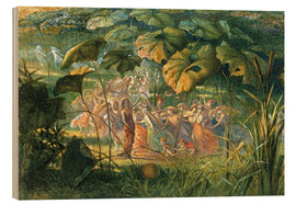 Wood print  Fairy Dance in a Clearing - Richard Doyle
