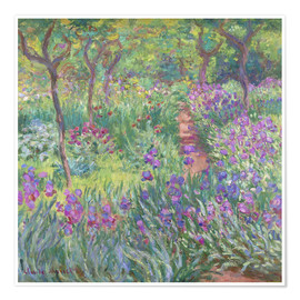 Premium poster  The Iris Garden At Giverny - Claude Monet