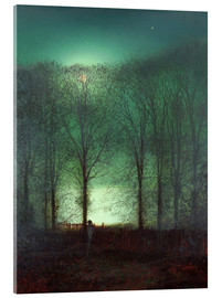 Acrylic print  Figure in the Moonlight - John Atkinson Grimshaw