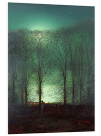 Foam board print  Figure in the Moonlight - John Atkinson Grimshaw