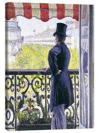 Canvas  Man on a balcony - Gustave Caillebotte