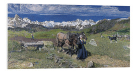 Foam board print  Spring in the Alps - Giovanni Segantini
