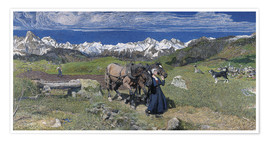 Premium poster  Spring in the Alps - Giovanni Segantini