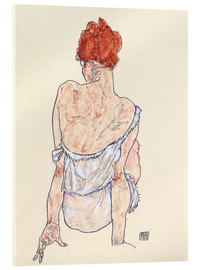 Acrylic glass  Female back - Egon Schiele