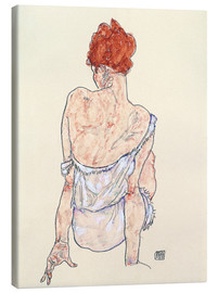 Canvas  Female back - Egon Schiele