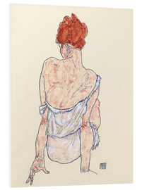 Foam board print  Female back - Egon Schiele