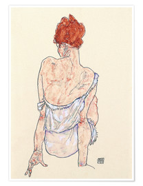 Poster  Female back - Egon Schiele