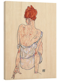 Wood  Female back - Egon Schiele