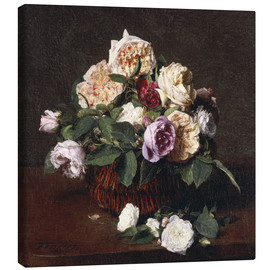 Canvas print  Vase of Flowers - Henri de Fantin-Latour
