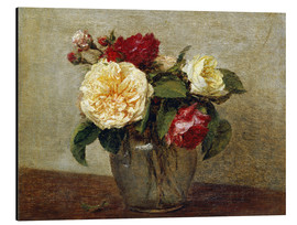 Alu-Dibond  Red and Yellow Roses - Henri de Fantin-Latour