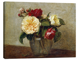 Canvas print  Red and Yellow Roses - Henri de Fantin-Latour