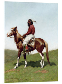 Acrylic print  Bold Comanche in Fort Reno, 1888 - Frederic Remington